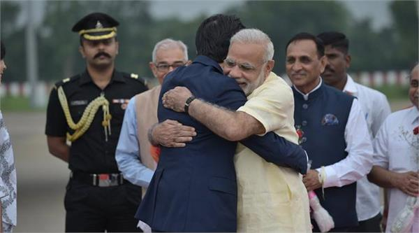 modi s hug diplomacy abe to obama and trump all get pm s personal touch