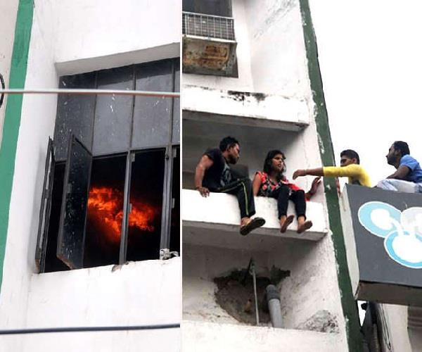 building fire 30 students jumped from windows and saved own life