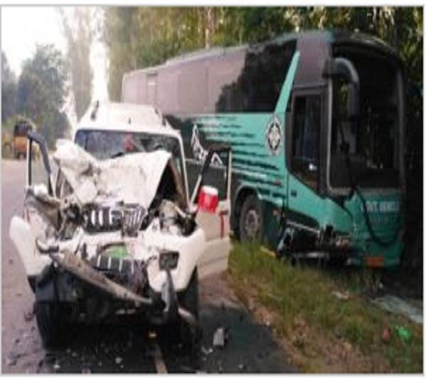 a big accident in una 1 and 2 killed in a collision of scorpio
