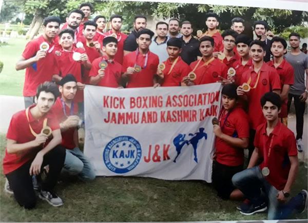 jammu kick boxing team won 11 gold medal
