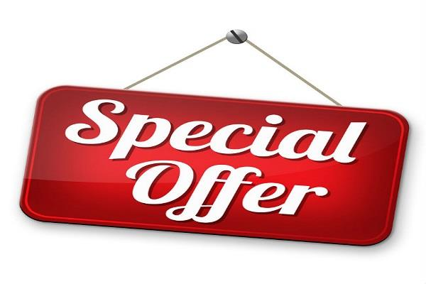 these special offers will be available in the festival season