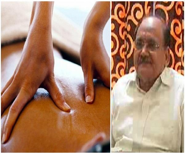 10th student given oil massage of teacher