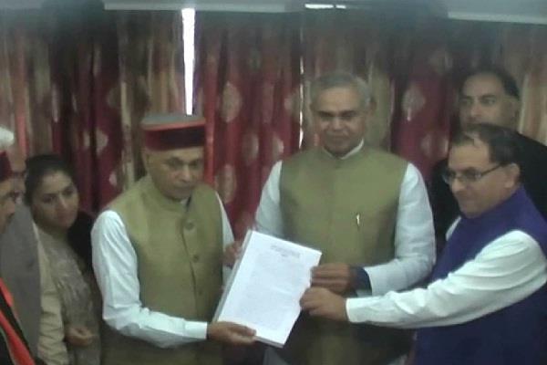 bjp demands memorandum president s rule