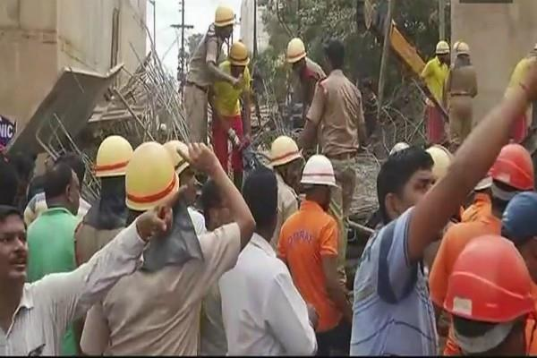 bhubaneswar 2 people dead 10 injured after portion of a flyover collapsed