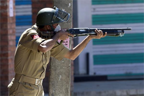 pellet gun should ban in kashmir