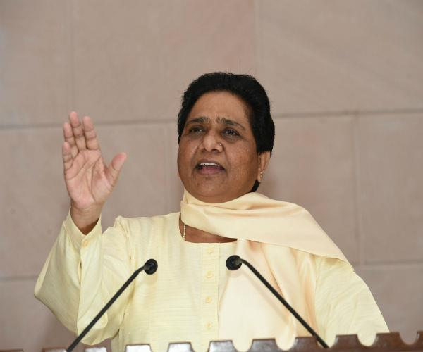 mayawati refuses to give support directly to sp says bjp will defeat voters