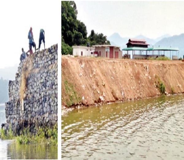 lake gobindsagar  water level  bilanpur ghulam ghat  sharman ghat