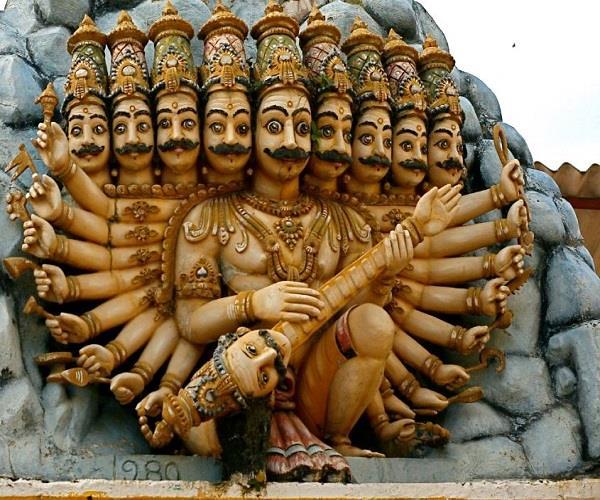a temple is such that where ravana worship