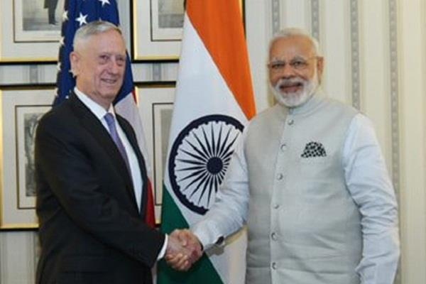 us defense minister meet with pm modi talk on fighter jet and drone