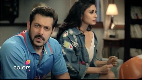 video salman khan shocked after seeing mauni roy at his house