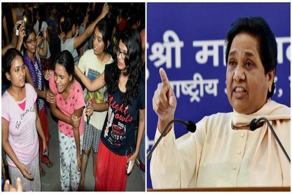 mayawati s lathicharge by police on bhu girls