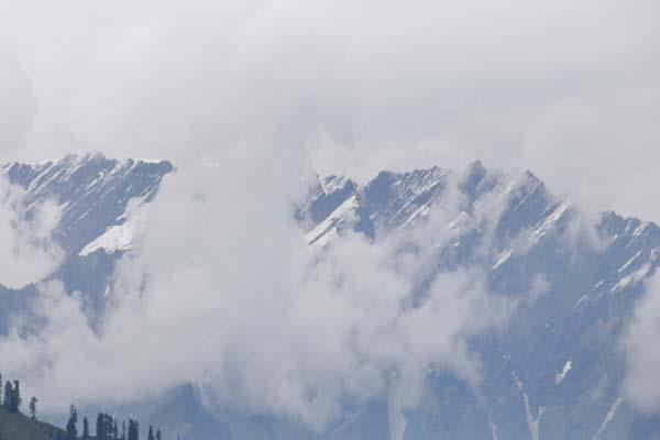 manali  rohtang  snow