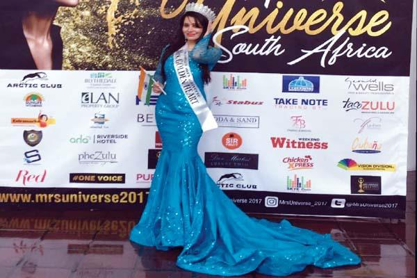 himachali daughter wins mrs universe title out of 84 countries participants
