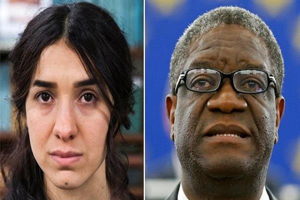 mukwege and murad were selected for the nobel peace prize