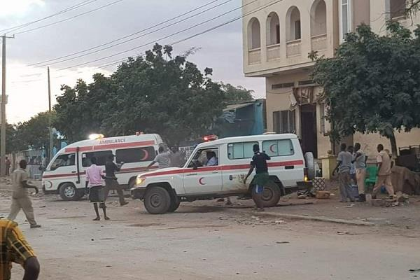 somalia at least 16 people die in suicide bombings