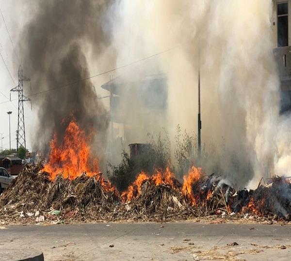 fire at dump