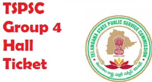 tspsc group 4 exam hall tickets
