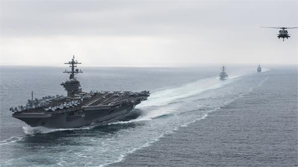 iran airs video said to show march encounter with us carrier