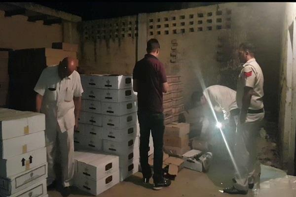 720 bags of illegal liquor recovered in hassangarh