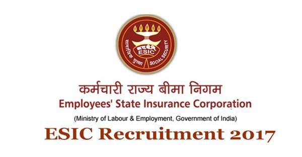 employee state insurance corporation jobs