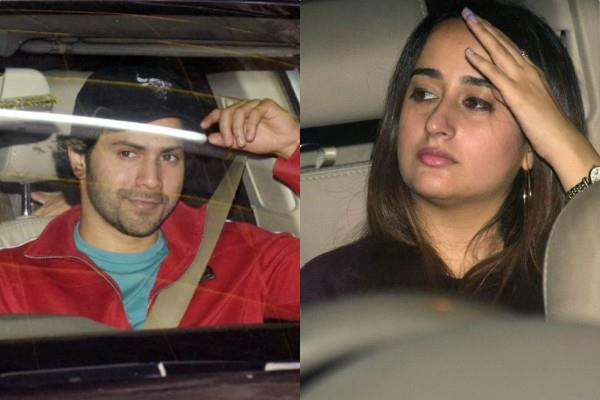 varun dhawan and natasha dalal spotted on a movie date