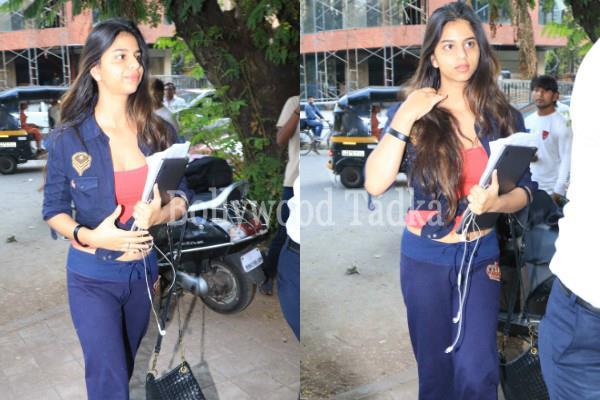 suhana khan spotted outside the salon