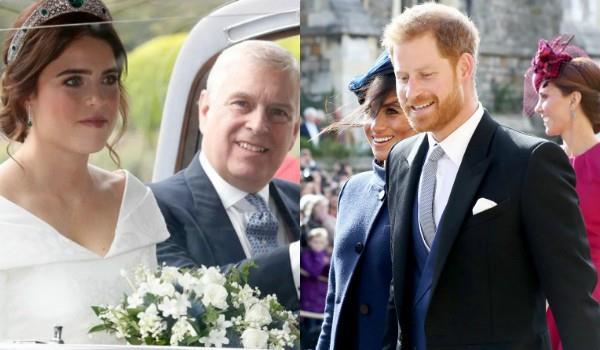 हाथों में हाथ डाले प्रिंसेस इयूजीन-जैक ब्रूकस्बैंक के शादी में पहुंचे मेगन मार्कल-प्रिंस हैरी