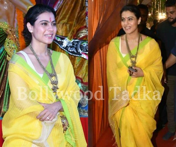 kajol at durga pooja