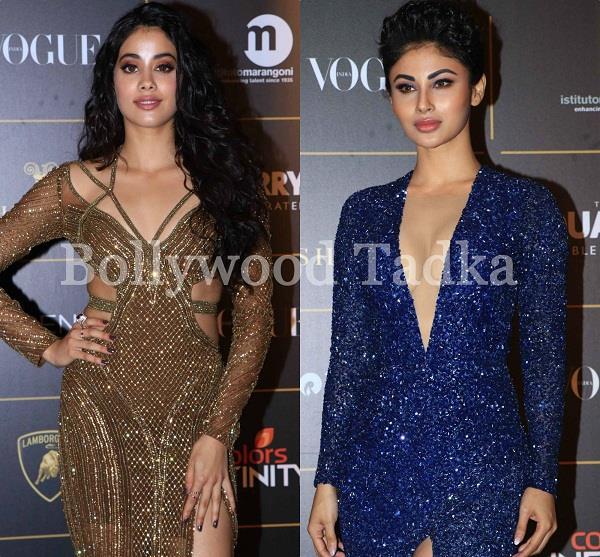 mouni roy and jhanvi kapoor at vogue women of the year awards 2018
