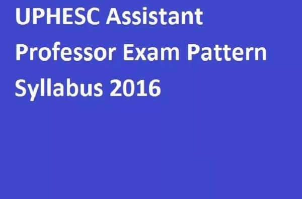 uphesc assistant professor recruitment of 1150 posts  2016 commenced