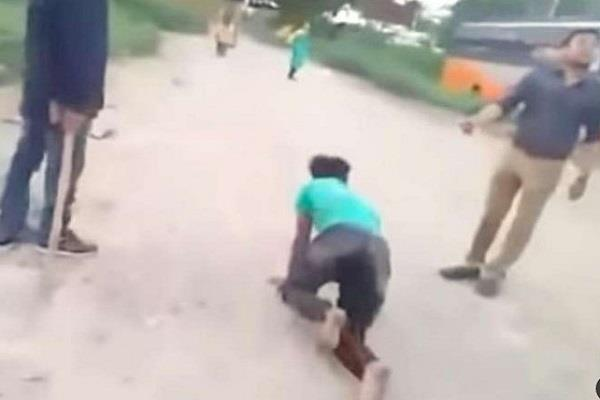 dalit driver crawl on road for harassing woman