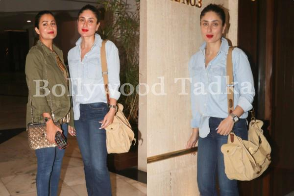 kareena kapoor khan spotted at manish malhotra house with amrita