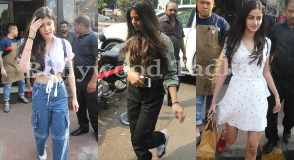 suhana khan besties shanaya kapoor and ananya pandey at lunch