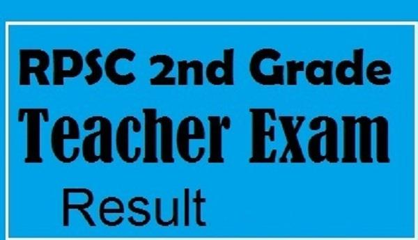 rpsc sr teacher grade ii results 2016