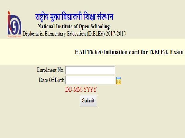nios admit card issued
