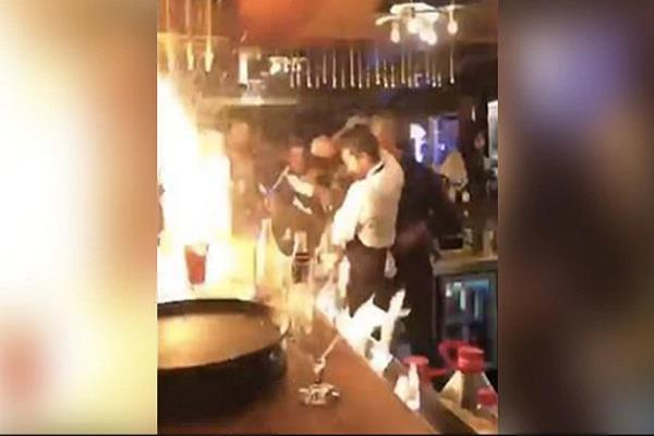 viral video during the stunts bartender incidents 4 clients injured
