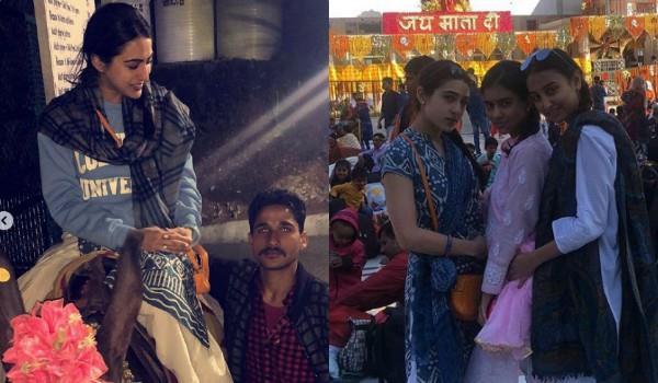 sara ali khan share video from vaishno devi
