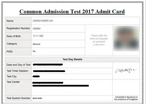 kat s admit card to be released on 24th