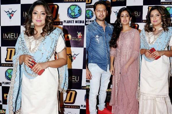 tanushree dutta and vatsal seth with wife at dream dandiya event