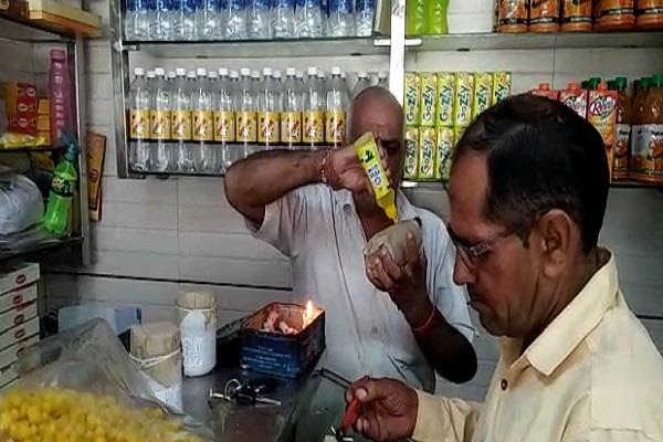 striking in shopkeepers filled samples from the health department s raid