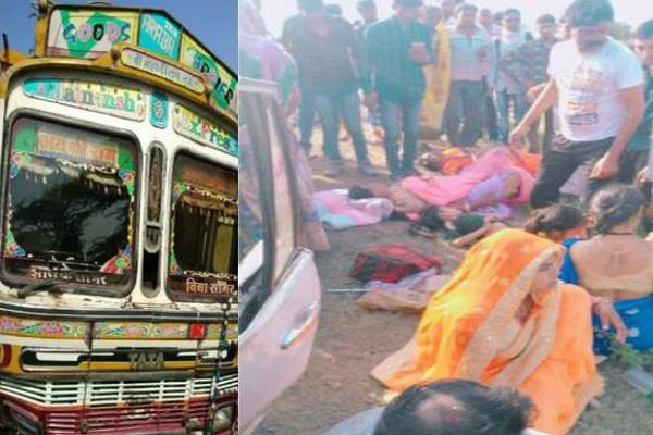 family killed in road accident death on woman s spot