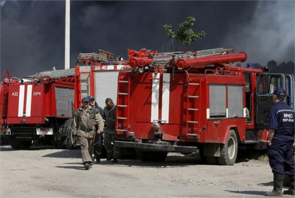 explosion at ammunitions depot prompts evacuations in ukraine