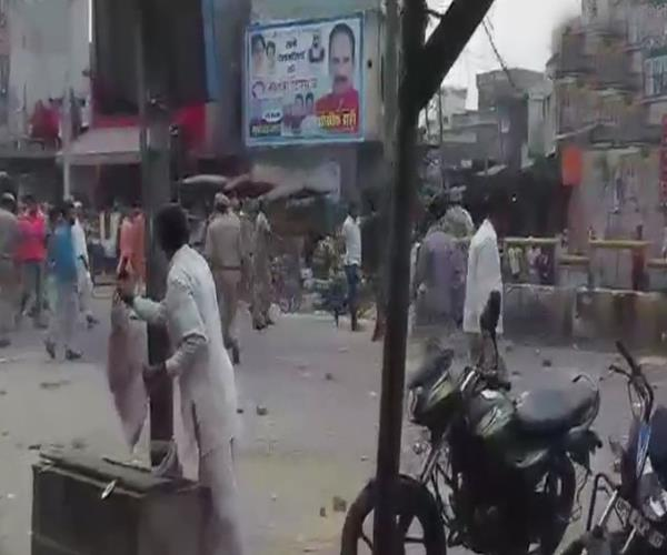 on the arrest of accused of tampering the accused beat the policemen