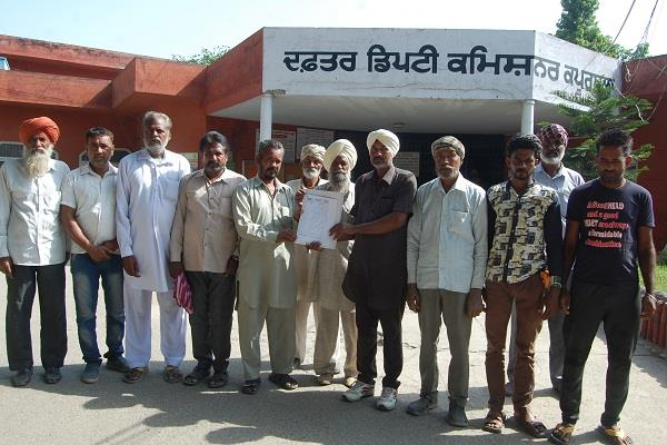 kisan mazdoor sangharsh committee demanded dc submitted punjab news