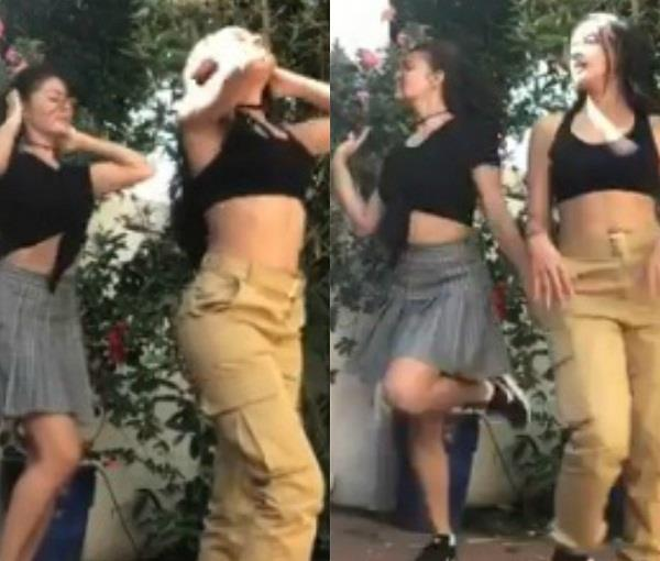 jacqueline fernandez dancing with girlgang on loveyatri chogada song