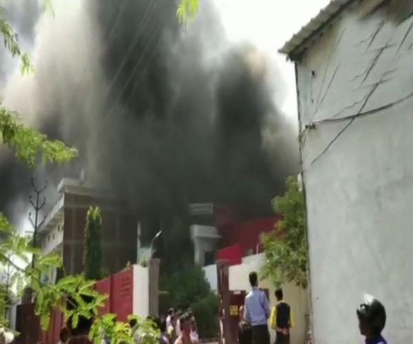 a fire in a chemical factory in kanpur
