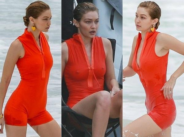 gigi hadid bold photoshoot in swimsuit