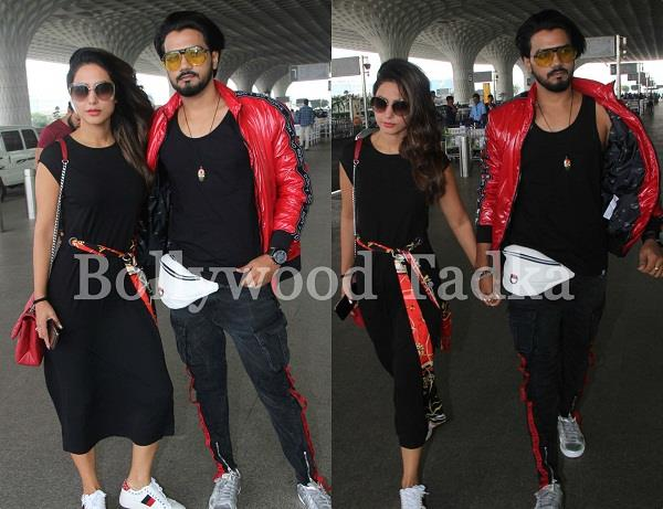 hina khan spotted at airport with boyfriend