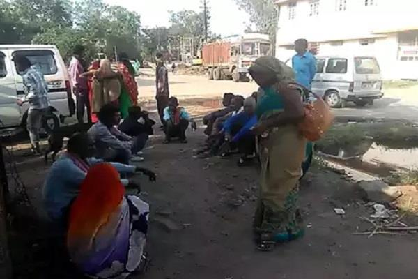 two youths killed in a road accident in the collapsed road