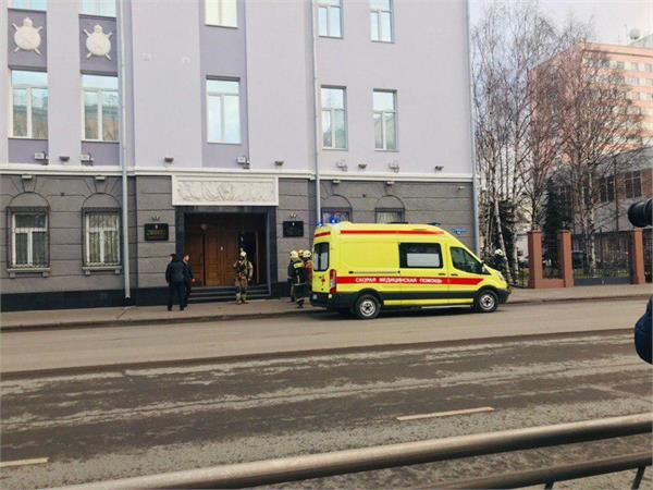 1 killed three injured in security service building in russia